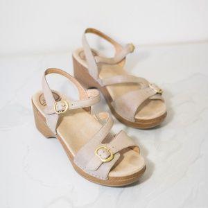 DANSKO Sandi Sand dollars Sandals 39 tan Shoes